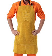 Leather Welding Aprons 107cm staphyloccus cowhide fire flame retardant clothing welder aprons