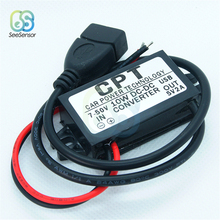 DC 7V-50V to 5V 2A 10W DC-DC Auto Car Power Converter Regulator Adapter For Vehicle Supply