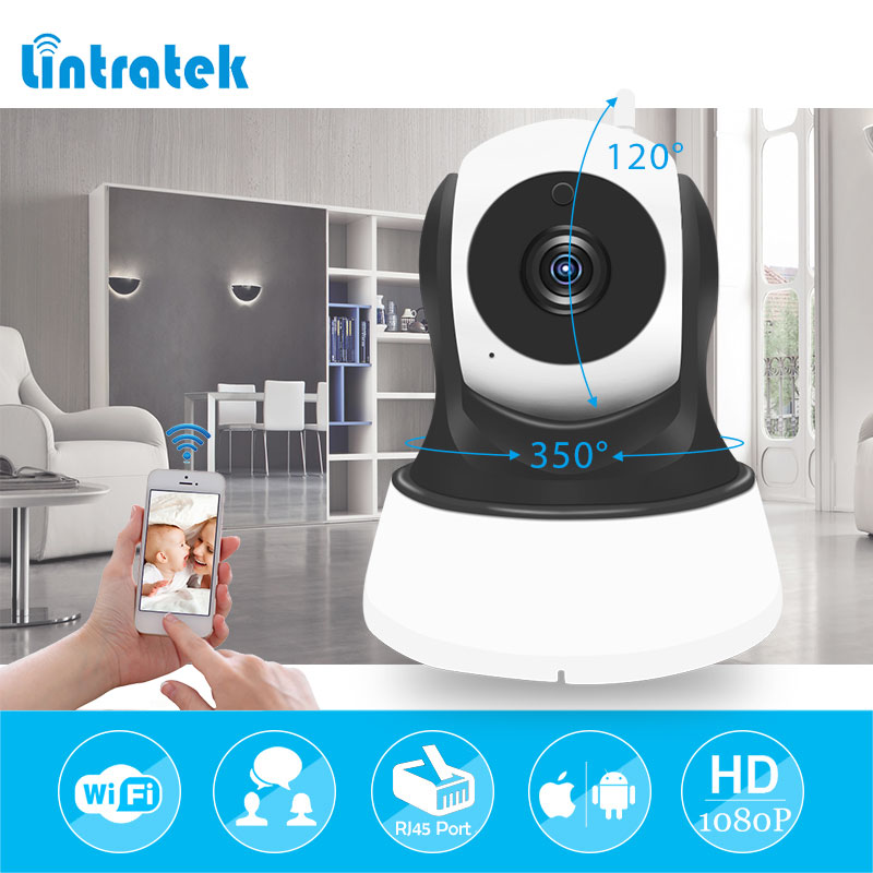 lintratek 1080P Video Surveillance Camera IP Wifi Wireless Home Security Baby Monitor Night Vision CCTV Camera IP Cam with Audio