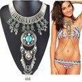 ZA 2015 Más Nuevo collar de cadena de cuerpo de moda para mujer hecho a mano de lujo exagerado declaración de collares y colgantes