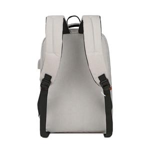 Image 5 - Unisex New Fashion Business Travel USB Backpack Canvas Laptop Computer Bag Big Capacity Backpack Male Female Luggage