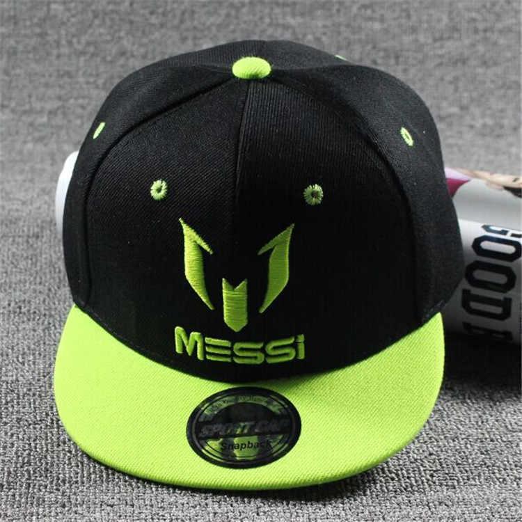 2018 Copa Mundial de Rusia nuevos niños Ronaldo CR7 Neymar NJR gorras de béisbol Snapback de algodón sombrero niño niña MESSI Hip Hop sombreros y Gorras