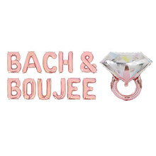 12 stks/partij Rose Gold Bach & Boujee Folie Ballonnen Bachelorette Party Decor Bach Party Decoraties Bruid en Boujee Banner Decor(China)