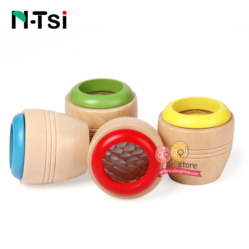N-Tsi Magic Wooden Kaleidoscopes Fun Toys for Children Kids Gift Preschooler Prism Montessori Early Educational Puzzle 1 piece