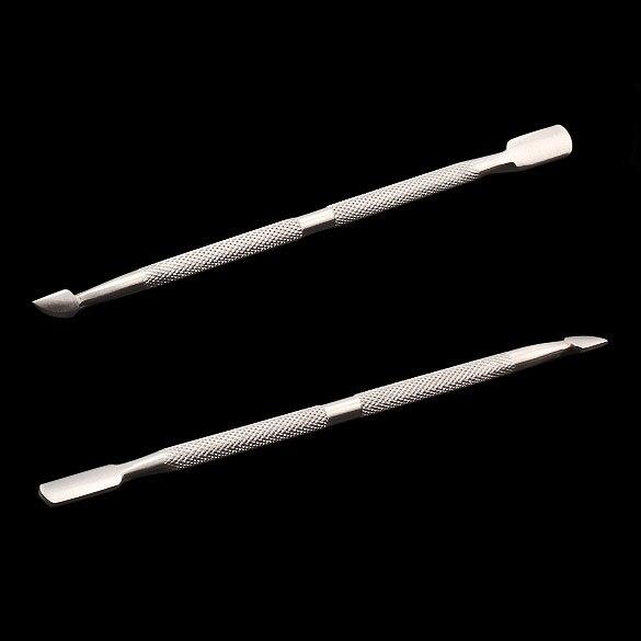 Metal Unha Cutícula Pusher Colher Corte Manicure Pedicure Removedor de Faca Kits de Limpeza Ferramentas-43
