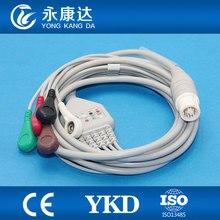 Ecg fukuda for Fukuda Denshi Dynascope DS-5100  5 lead ecg cable,AHA/Snap