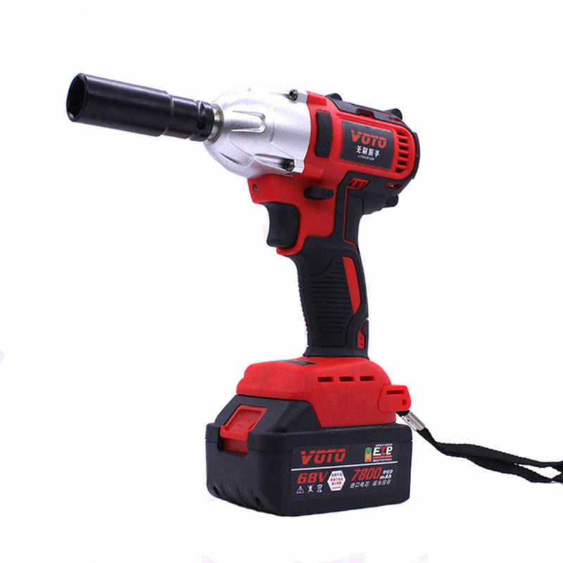 68V Brushless Electric Impact Wrench Cordless Rechargeable 7800Ah Lithium Battery Car Socket Electric Impact Drill