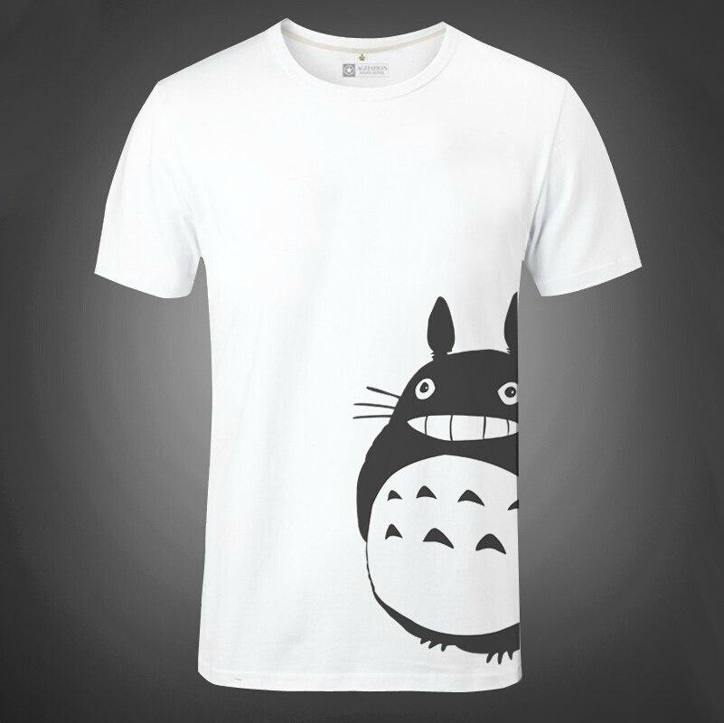 Anime Chinchilla Shirt My Neighbor Totoro T-shirt Short Sleeve Male Cosplay T-shirt Tee