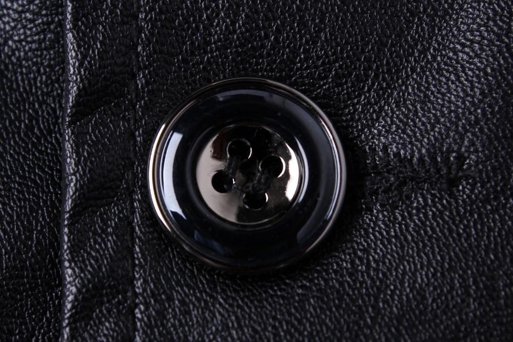 2019 yeni varış blazer erkekler PU faux deri İnce coat marka deri - Erkek Giyim - Fotoğraf 5