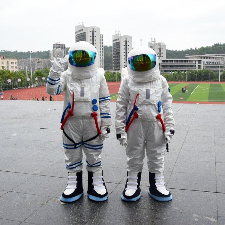 Vendita calda di Alta Qualità tuta Spaziale e Astronauta costume con Zaino & LOGO guanto & scarpe
