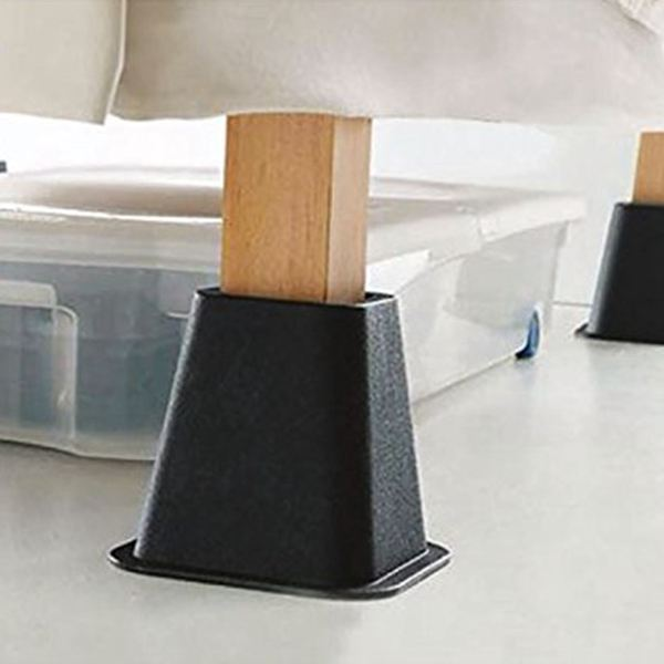 4pcs PP Chair Leg Caps Feet Pads Furniture Table Covers Socks Floor Protectors Furniture Risers Aid For Raising Bed Chair Cups