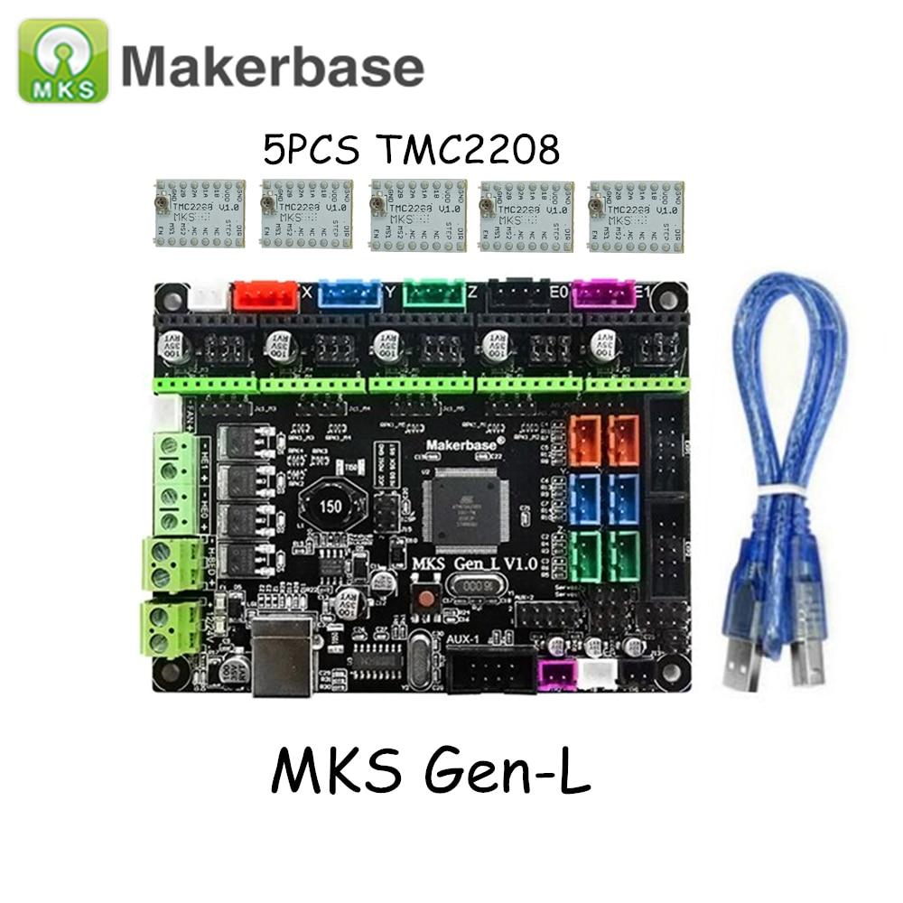 все цены на 3D Printer Parts MKS Gen L V1.0 Controller Board with Ultra-Silent TMC2208 Stepper Motor Driver for MKS Gen-L онлайн