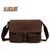 Купить с кэшбэком 2016 New AUGUR brand army style canvas men's bags vintage messenger shoulder bag men travel bags 9053