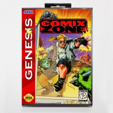 Comix Zone 16 bit MD card with Retail box for Sega MegaDrive Video Game console system