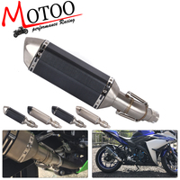 Motoo - Motorcycle Exhaust Muffler Pipe Link Pipe Carbon Fiber Exhaust middle Pipe Escape FOR YAMAHA YZF-R3 R3 R25 2015 2016