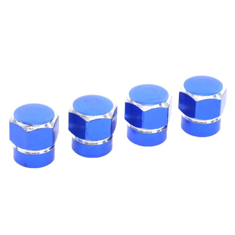 4pcs Car Tyre Valve Caps Bicycle Motorbike Baby Buggies Colour Blue UK STOCK Trucks Bike Aluminum Tyre Dust Covers with Seal Ring for SUV