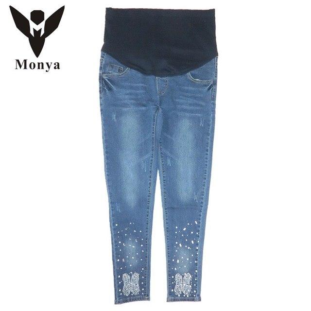 Высокое качество Весна Осень Джинсы Для Беременных Одежда Брюки Мода Качество Эластичные Модели Беременных женщин джинсы