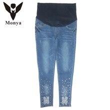 High quality Spring Autumn Jeans font b Maternity b font font b Clothes b font Pants