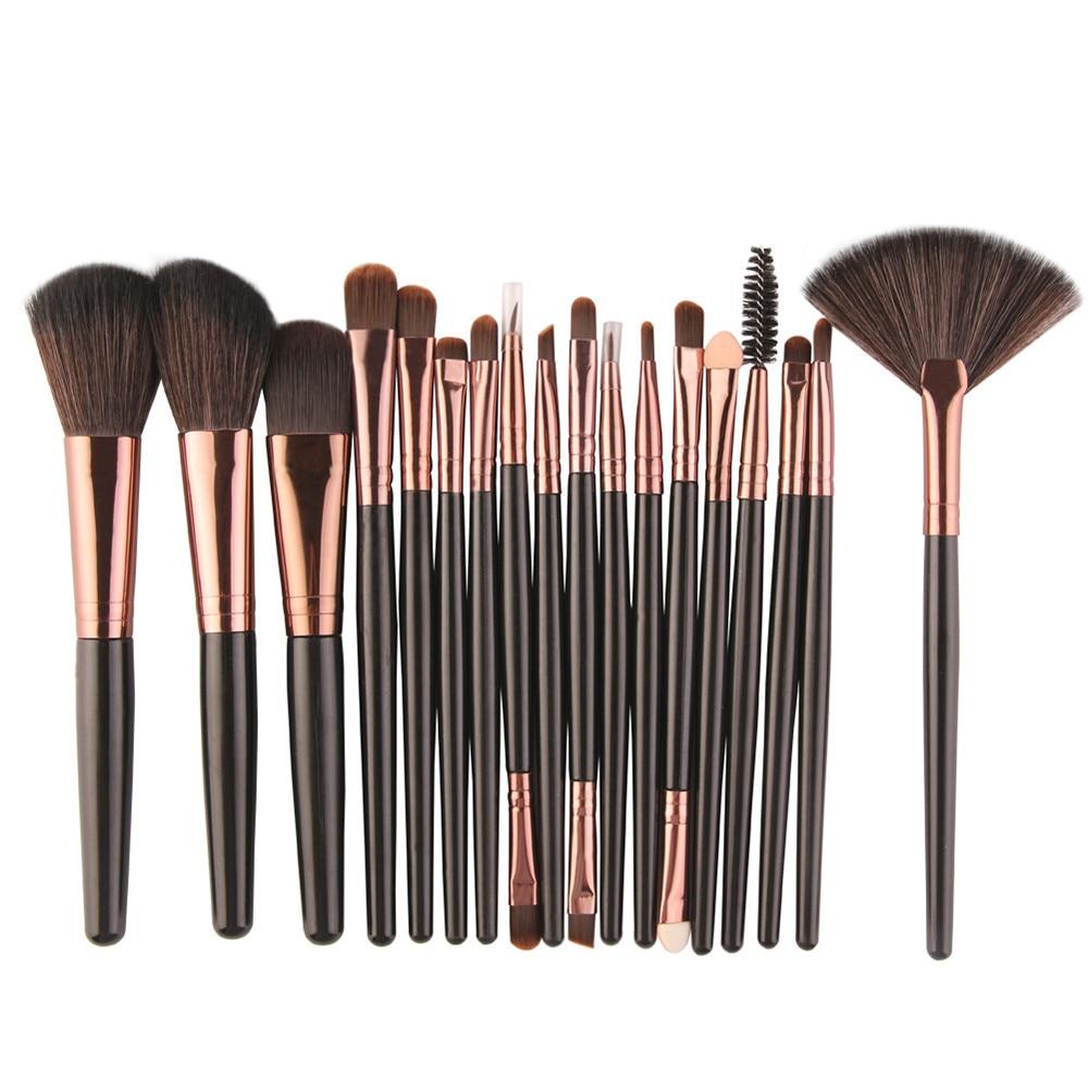 ISHOWTIENDA 18pcs Hot Professional Makeup Brushes tools Make-up Toiletry Kit Wool Make Up Brush Set Black 15 Pincel maquiagem все цены