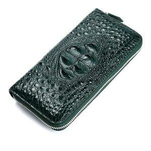 Image 5 - McParko אמיתי תנין ארנק נשים עור מצמד ארנק יוקרה בעל כרטיס ארנק נשי אלגנטי אשת חברה מתנת ארנק