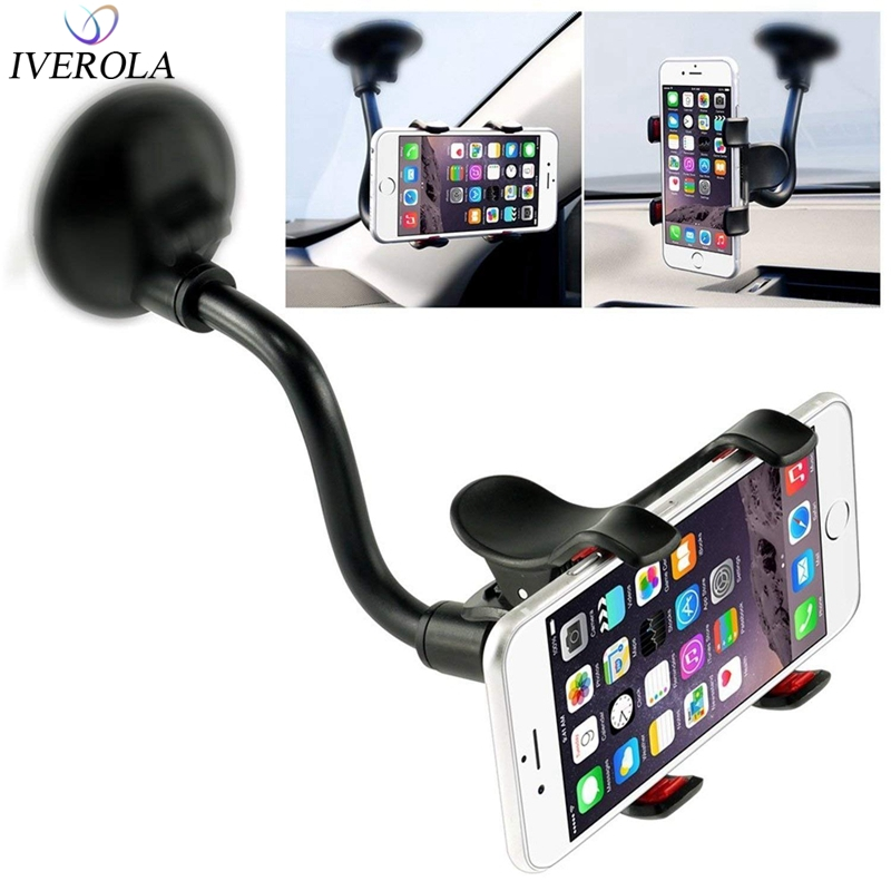 Universal Long Shockproof Arm Car Mount Holder Windshield For iPhone X 8 8 Plus GPS Strong Suction Cup Mobile Phone Holder Stand
