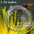 1.56 Index Asférica Prescrição de Lentes CR-39 Lente Difícil Miopia Presbiopia Lente Óculos de Proteção Anti-Radiação UV 2 PCS RS067