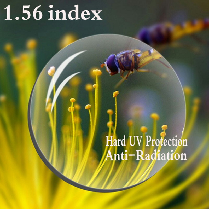 1.56 Index Aspheric Prescription Lens CR-39 Myopia Presbyopia Lens Hard UV Protection Glasses Lens Anti-Radiation 2 PCS RS067