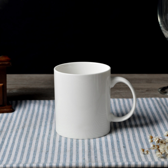 Dhl Free Shipping 48pcs C Handle Mug Ceramic Super White Coffee Mugs And Cups Porcelain Plain