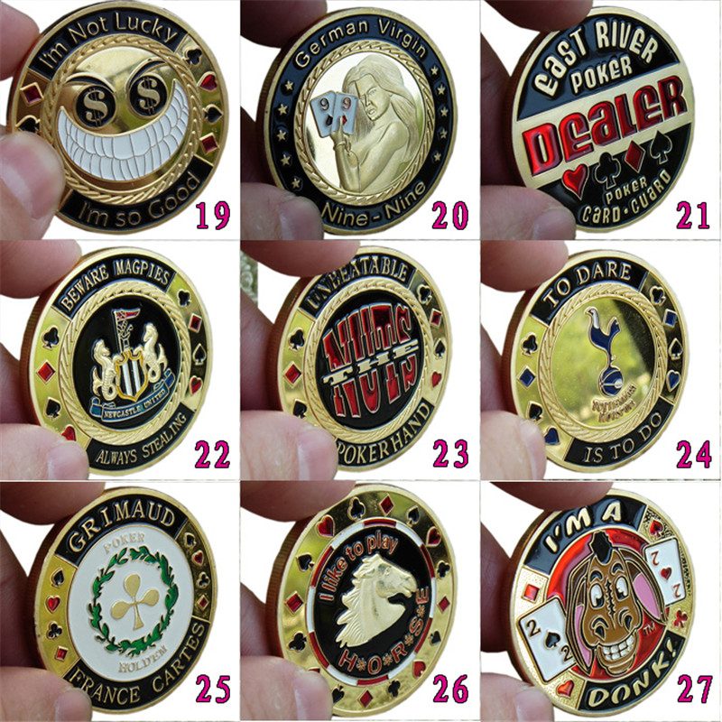 1PCS 101 kinds Option  Metal Banker Chips ,Press Card Accessories,High Quality Poker Chips Texas Hold'em Accessories