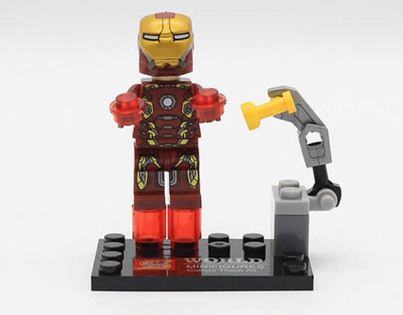 8 шт. Супер герои Marvel Мстители военные пластиковые фигурки Legoings блоки игрушки Дэдпул паук-человек Халк, Бэтмен рождественские подарки