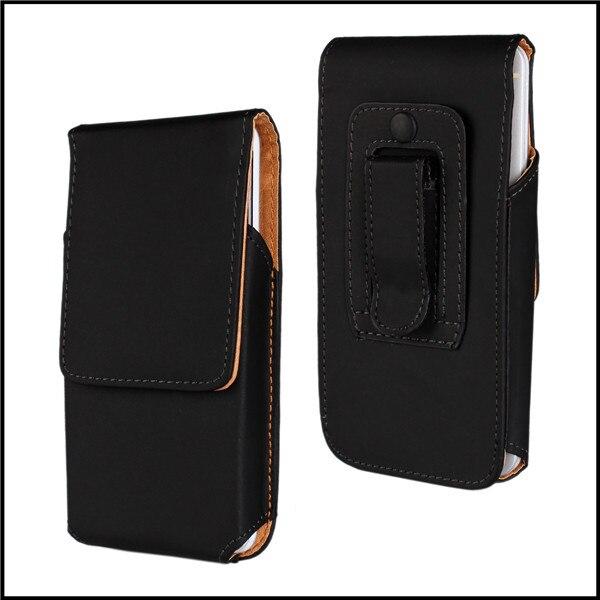 Clip de cinturón bolsa de cuero vertical de la cubierta caja de la bolsa para ht