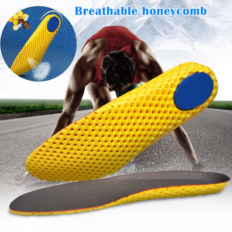 Unisex Orthotic Arch Support Breathable Basket Soccer Fitness Shoes Insoles Jogging Running Shoe Pad Insert Cushion Men Women
