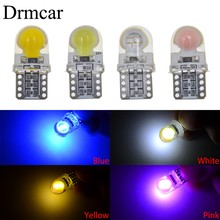 10Pcs Auto T10 Led194 W5W LED 168 COB Silica Car Super Bright Turn Side License Plate Light Lamp Bulb DC 12V(China)