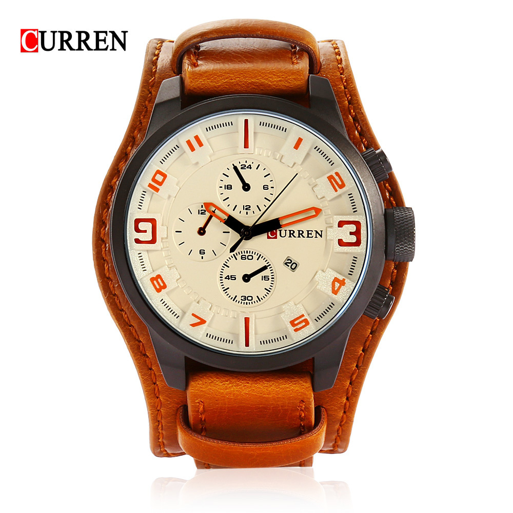Curren Fashion Men Quartz Watch Top Sport Brand For Man Analog Military WristWatch Decorative Sub-dial Male Relogio Masculino наушники akg y20 black