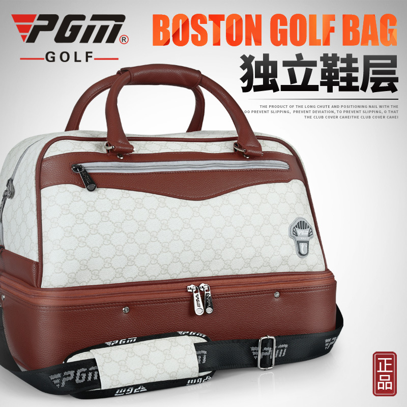 PGM Golf Clothing Bag Double Clothes Bag Waterproof PU Bag A Variety Of Texture Independent Shoe Area A4761 pgm genuine golf standard durable bag waterproof lady golf capacity standard ball bag embroidered package contain full set club
