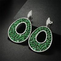 Frauen ohrringe, Great design AAA zirkonia oval steine lange ohrringe, herrlichen frauen, H5829
