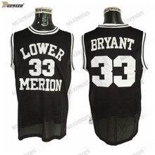 f30bc96b4 DUEWEER Mens Lower Merion Kobe Bryant High School Basketball Jerseys Cheap Black  33 Kobe Bryant HS