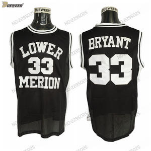 b75708199dcd DUEWEER High School Basketball Jerseys Mens Lower Merion Kobe Bryant