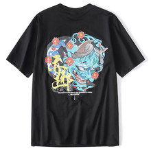 HISTREX Chinese Style Devil Ghost Streetwear Casual Streetwear Men T Shirt Plus Size Hip Hop T-Shirts Top Funny Male G4JQ6#(China)