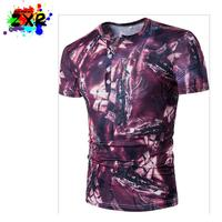 New Summer Short Sleeve V Neck 3d Printed T Shirt Men Brand Europe Designer Men S