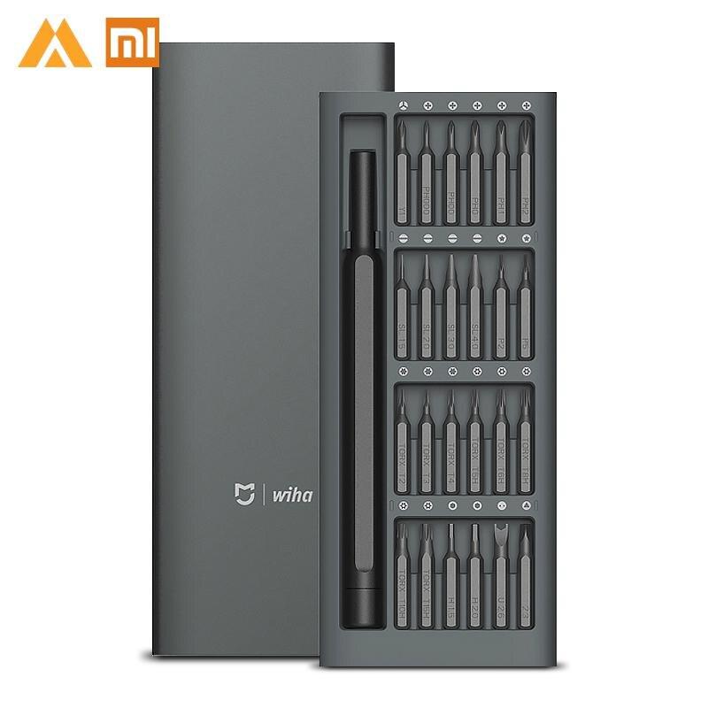 Xiaomi mi jia Wiha 24 en 1 de precisión de 60HRC Bits magnéticos herramientas de reparación de Xio mi Xao de mi xiao mi