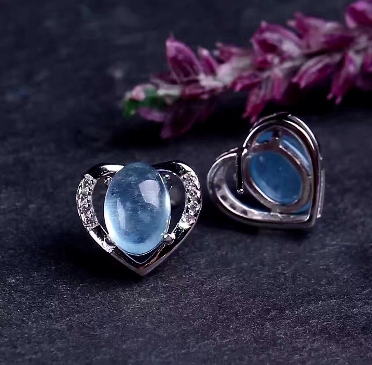 925 Brincos de Cristal de Prata - 2