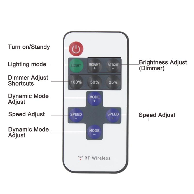 Brezplačna dostava 12A 5V-24V LED RF brezžični daljinski regulator - Pribor za razsvetljavo - Fotografija 4