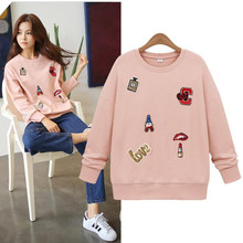 Adogirl Sudaderas Mujer 2016 Korean Harajuku Hoodies Long Sleeve Pink Women Sweatshirt Casual Loose Pullovers Hoodie