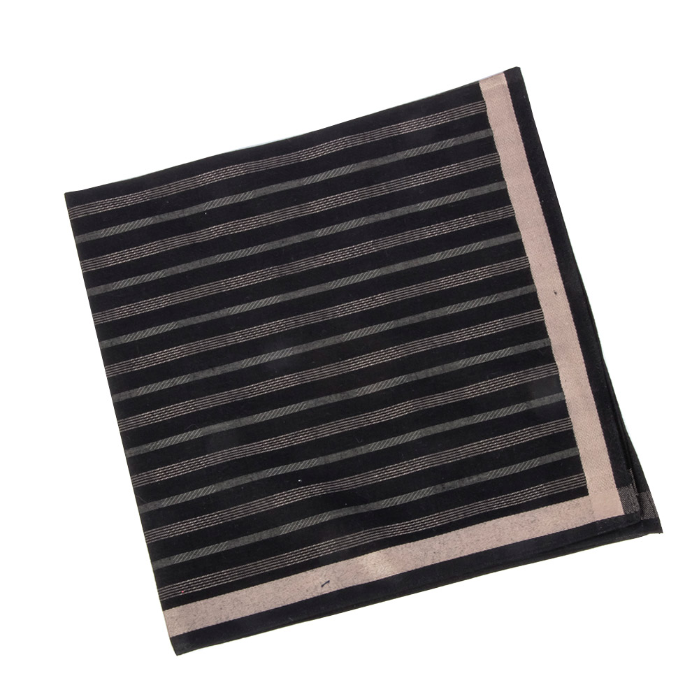 Classic Pattern Men Handkerchief Vintage Cotton Material Stripe Pocket Square Pocket Square Chest Towel Accessories
