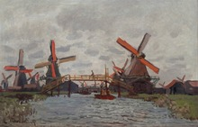 Home Decorative Canvas Monet Painting Windmill Near Zaandam Landscape  Printed On canvas Suppliers