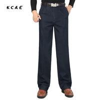Men S Winter Jeans Double Pleated Loose Men S Pants Plus Velvet Thick High Waist Casual