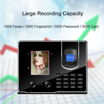 Eseye Attendance System Facial Recognition Time Attendance Fingerprint USB Time Clock Recorder Employee Machine For Company biometric facial fingerprint time attendance system usb clock recorder employee recognition device electronic english machine