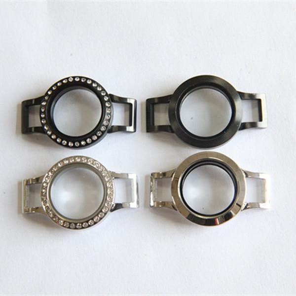 Offre spéciale argent et noir mélangé 25mm torsion en acier inoxydable médaillon Bracelet pour Bracelet en cuir 10 pcs/lot-in Wrap Bracelets from Bijoux et Accessoires    1