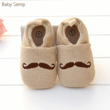 Baby Boy Girl Crochet Shoes 2017 Knitting Handmade Infant House Shoes Crochet Pattern Mustache New Born Toddler Crib Shoes